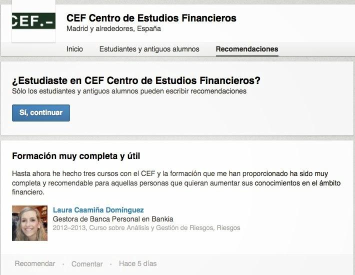 Página de universidad de CEF