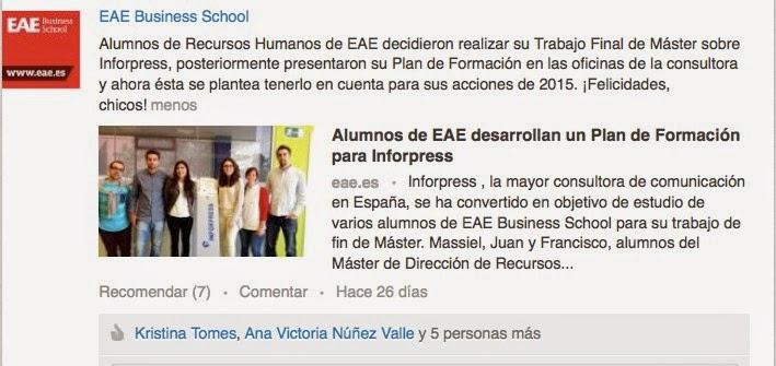 Página de universidad de EAE