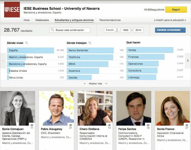 Página de Universidad de IESE