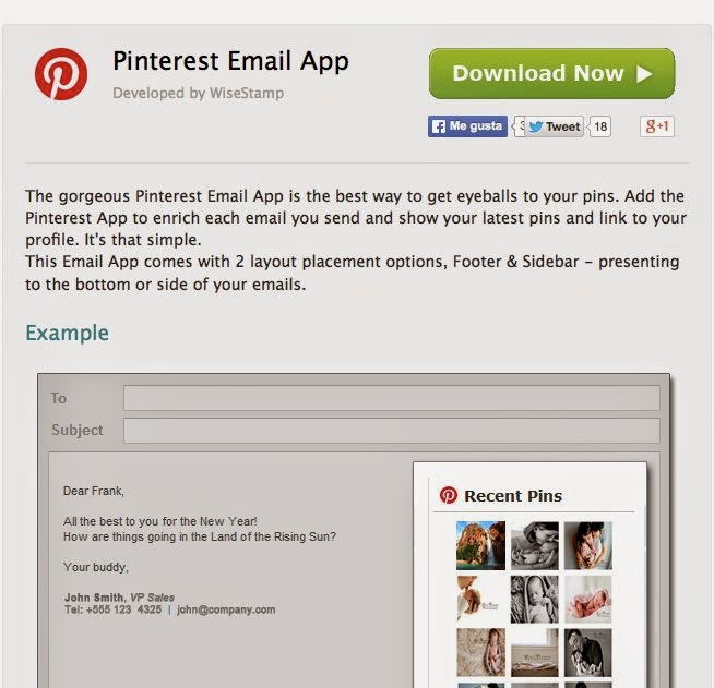 Pinterest Email App