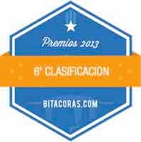 Premios Bitácoras 2013: Sexta Clasificación Mejor Blog de Marketing y Comunicación