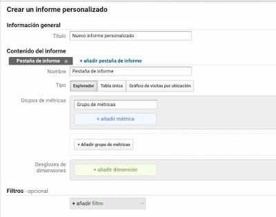 Configurar informe personalizado