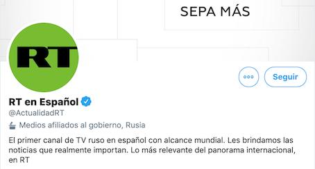 RT en español en Twitter