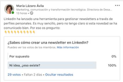 Encuestas en LinkedIn