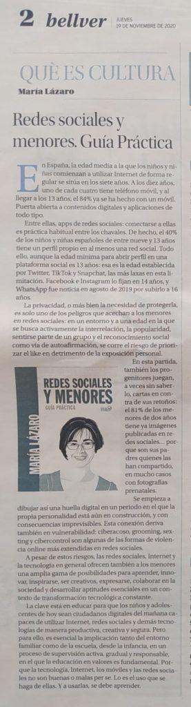 Reseña María Lázaro en Diario de Mallorca